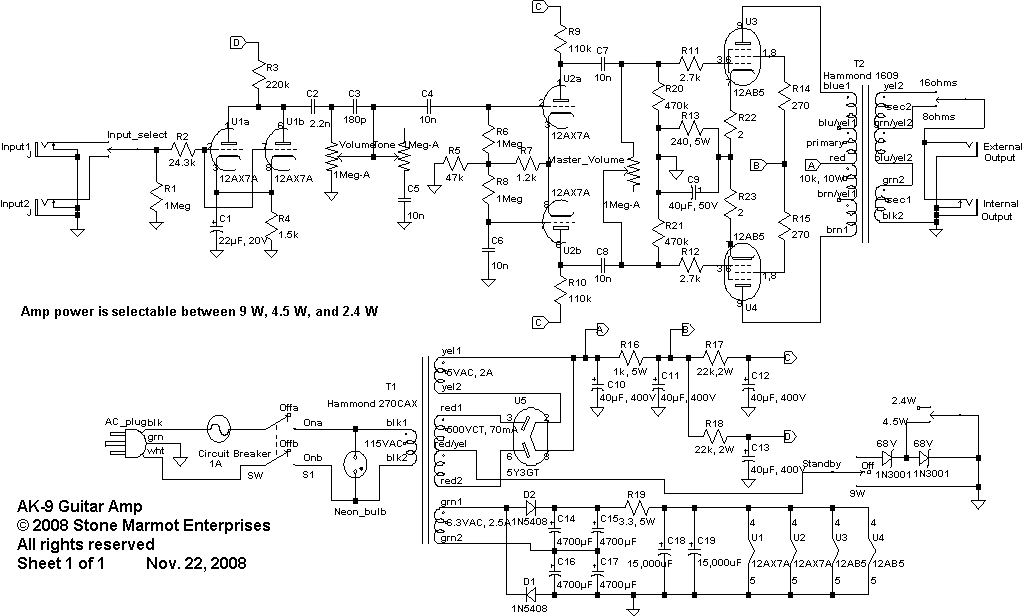 can fender amp schematic silverface deluxe reverb layout