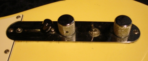 Figure 3 - My Telecaster Controls Showing The Added Phase Switch